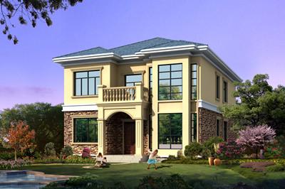 经济实用二层农村别墅设计图,160平方米方案,外观简洁大气