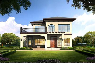 二层带车库农村自建别墅全套设计图,29万到36万占地方方正正