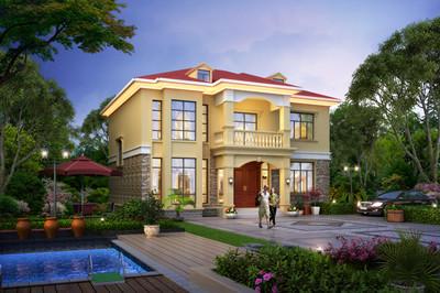 二层农村自建别墅设计图,造价20万到30万,施工简单