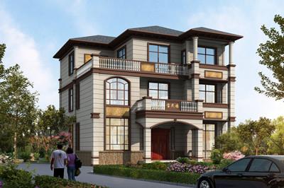 造价35万左右三层农村房子别墅设计图,外观高档大气