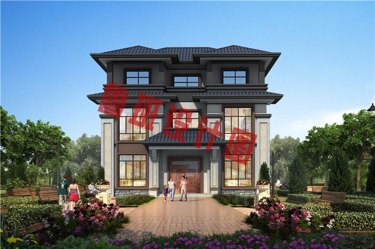 大气三层中式豪华别墅设计图片