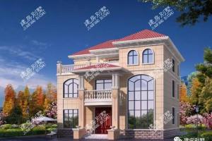 """欧式风格别墅设计图片,被评为村里面的""""村花""""。"""