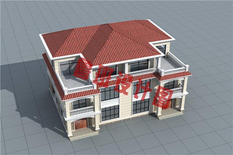 欧式乡村三层兄弟双拼别墅设计外观图
