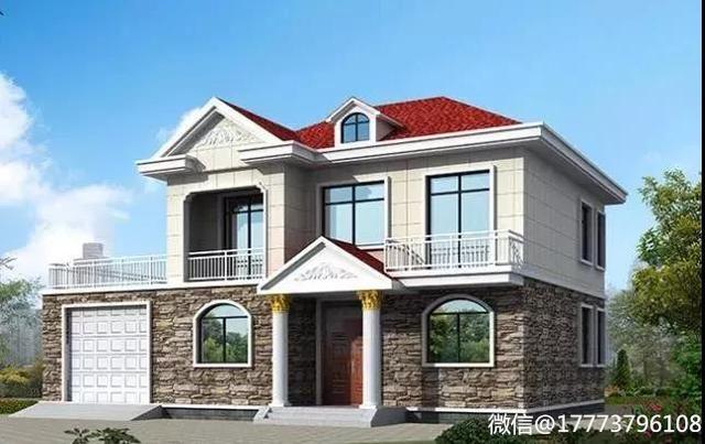 25万以内两层乡村别墅,4个卧室、大露台、车库、休闲厅一样不少