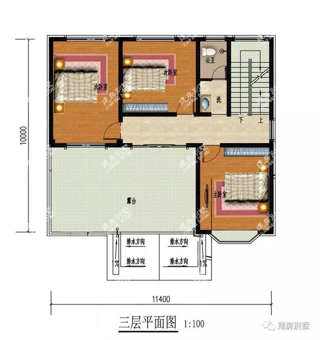 两栋宽度一样的三层自建房,第一栋带堂屋,深受湖南人追捧