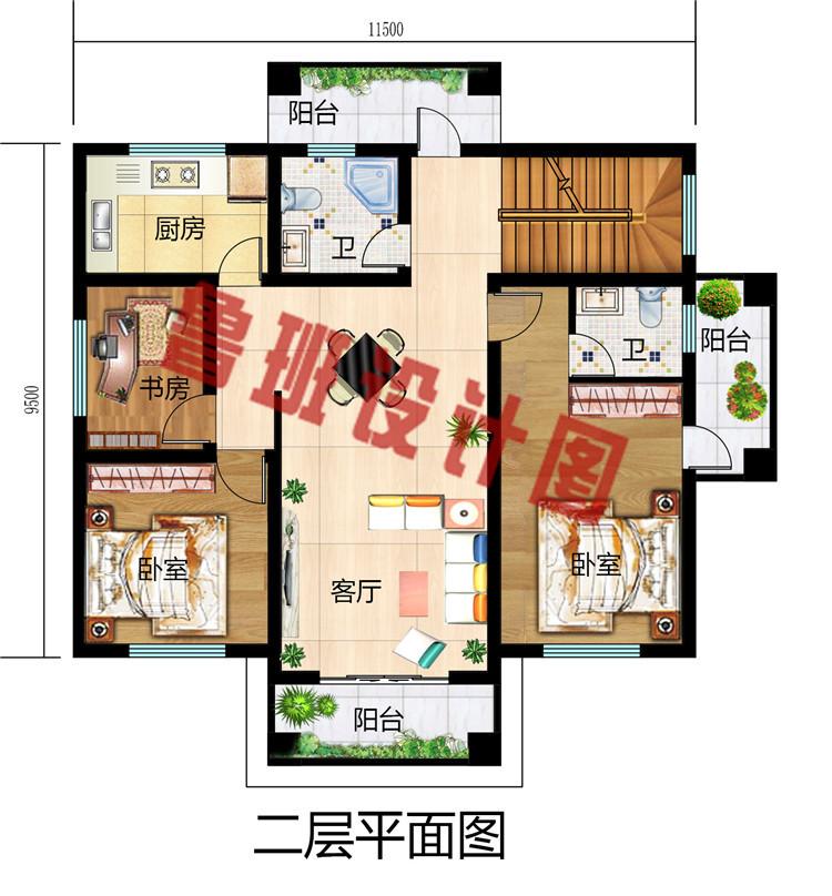 农村二层平屋顶别墅设计图,平顶二层楼图片大全