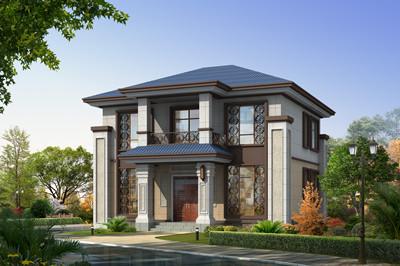 新农村二层中式别墅设计图,占地100平方米左右