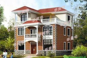 5套三层自建别墅户型图,采用框架结构,整体大气、美观。