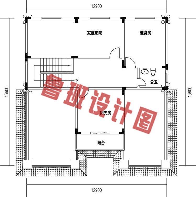 好看简单农村四层简欧式别墅设计四层户型图