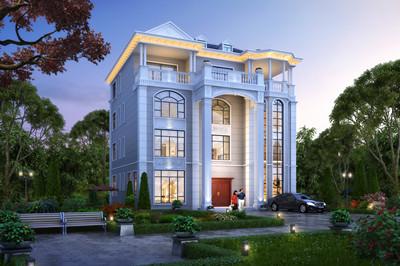 高档四层复式豪华别墅住宅设计图,欧式风格设计