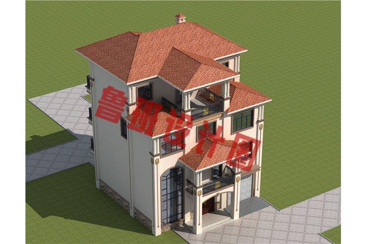 欧式四层框架结构农村楼房设计外观图