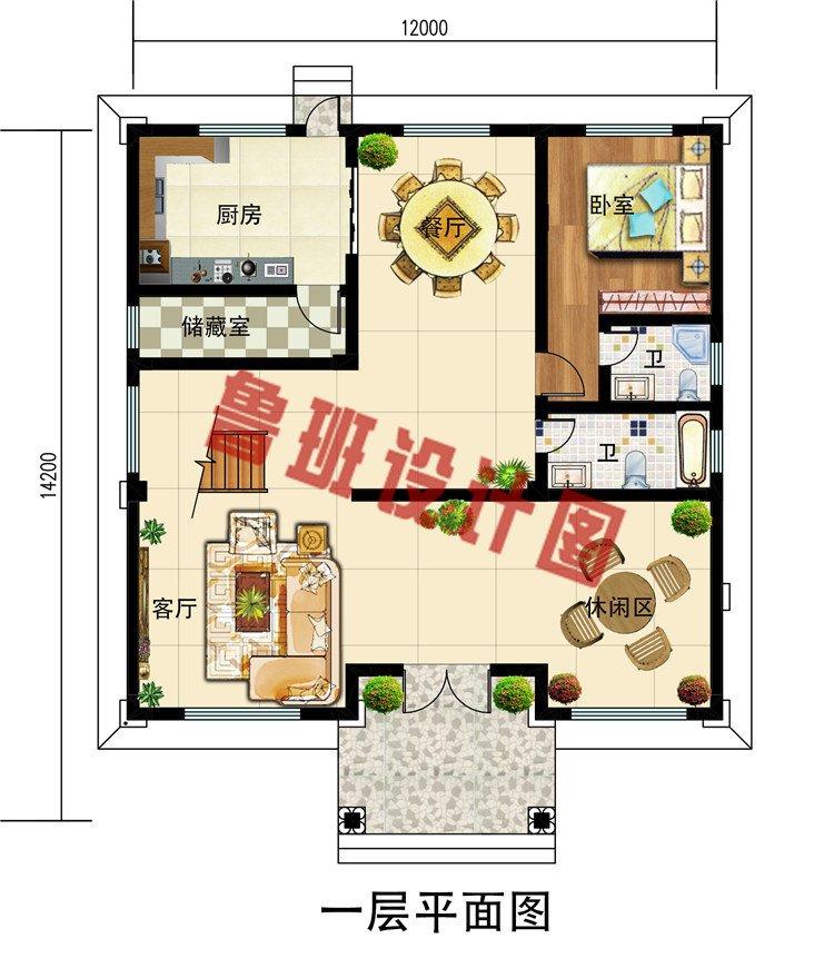 乡村新款三层欧式复式别墅设计图,外观图高贵大气