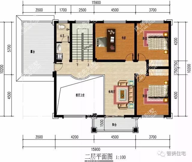 两栋厨房单独建的别墅,第二栋带车库,户型都简单实用