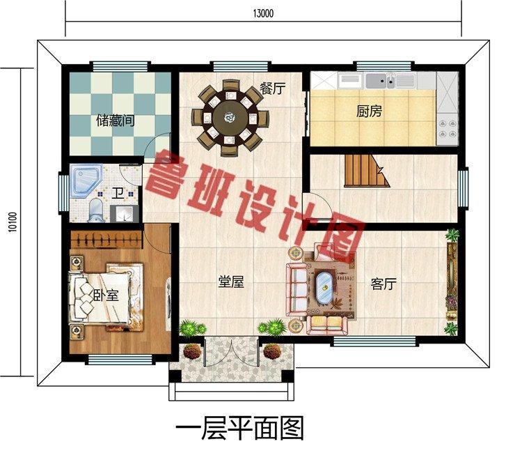 好看又简单的二层楼房设计图,农村自建别墅好户型