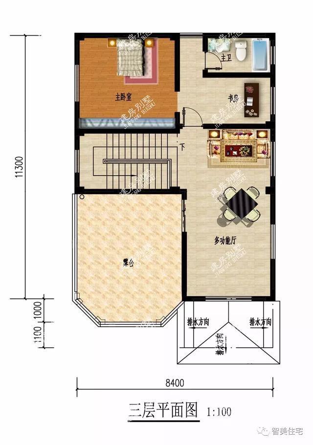 2栋面宽8米多的别墅,宅基地小的学学这样建,效果特别好