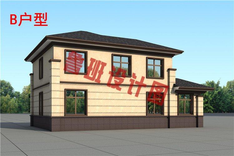 农村二层中式别墅设计外观图