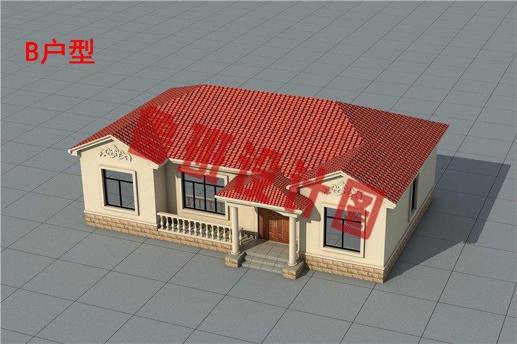 乡村一层别墅设计外观图