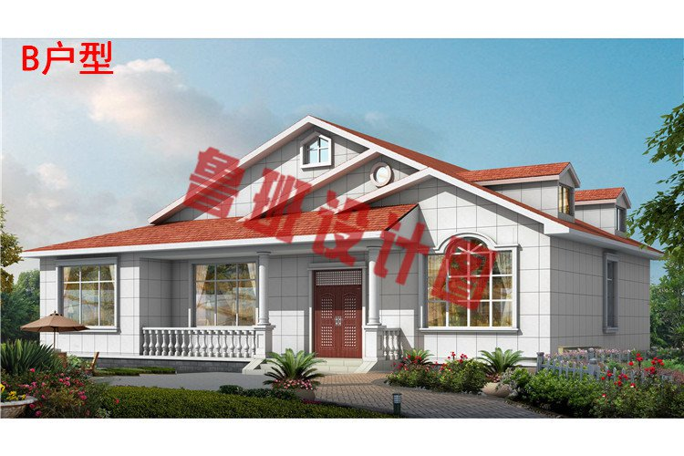 主体造价只要10万-15万的一层小别墅住宅设计效果图