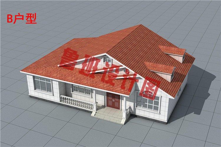 主体造价只要10万-15万的一层小别墅住宅设计外观图