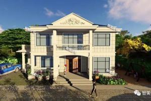 15.5×12.9米房屋设计图纸,整体造型偏简约风格。
