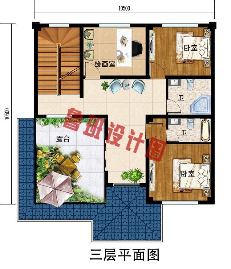 南方农村三层半房屋别墅设计图,带地下室