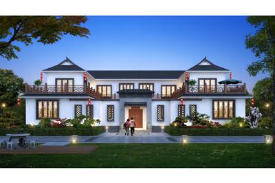 新款农村中式四合院图片及全套设计图,占地400平方左右