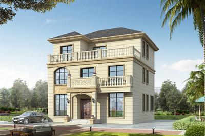 农村简单实用三层楼别墅设计图,外观高档大气