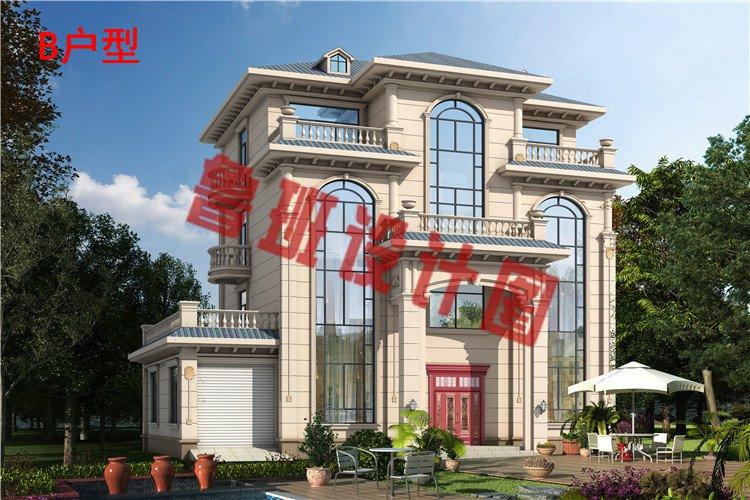 2019年新款豪华高端四层别墅房屋设计效果图