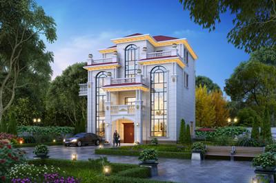 农村四层现代别墅图片大全及施工设计图,外观效果图高端大气