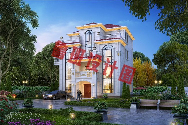 四层欧式高端农村别墅设计效果图