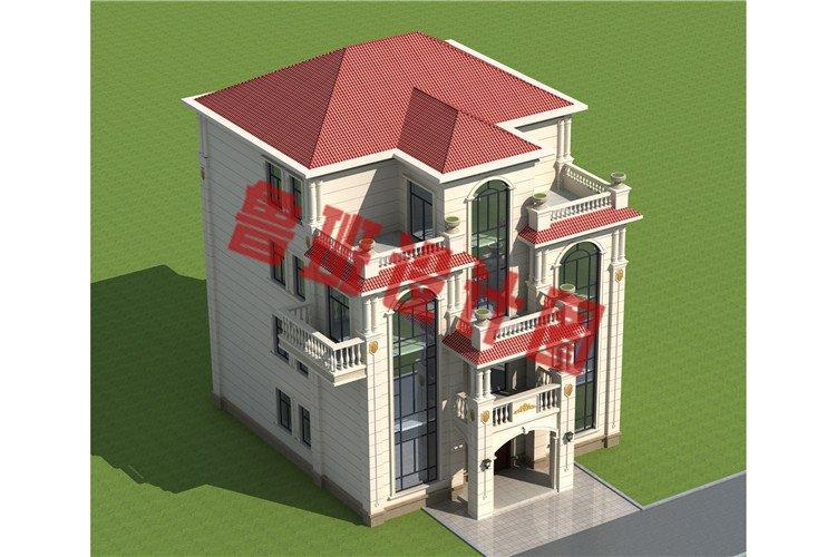 四层欧式高端农村别墅设计外观图
