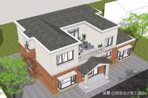 欧式两层别墅图片,采用不对称设计让建筑更为灵活。