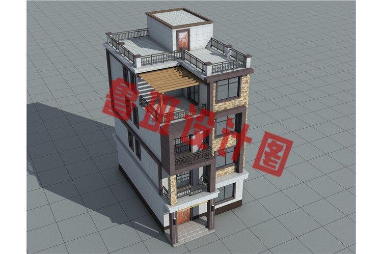 新款农村四层小户型别墅外观图