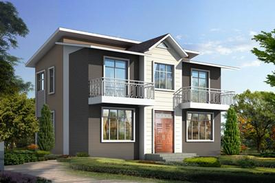 实用简单农村二层楼别墅设计图,外观时尚清新