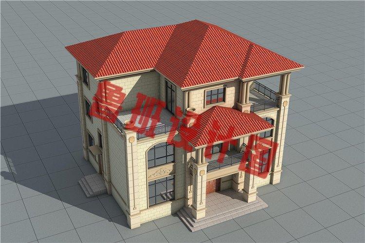 乡村新款三层自建别墅设计图片