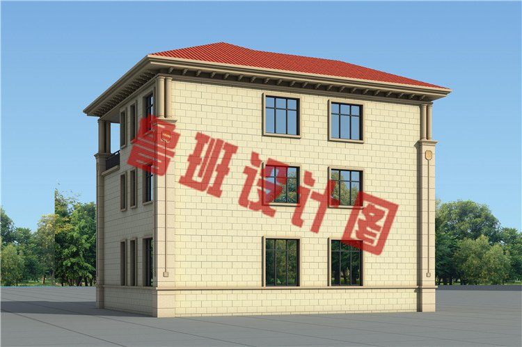 乡村新款三层自建别墅设计外观图