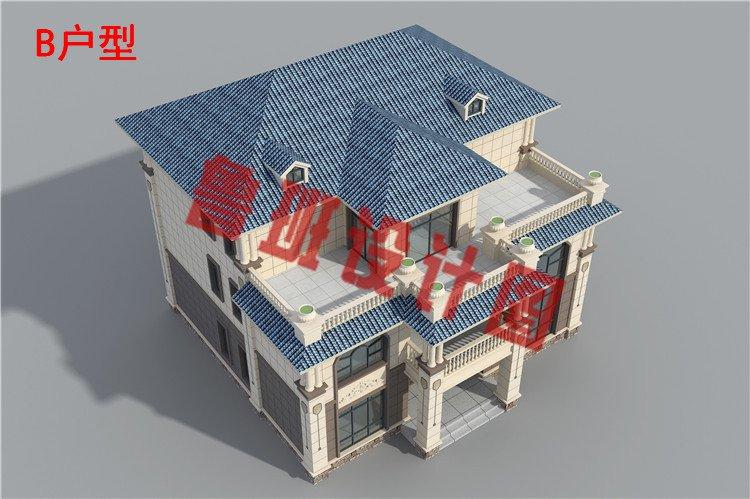 农村三层私人别墅设计外观图