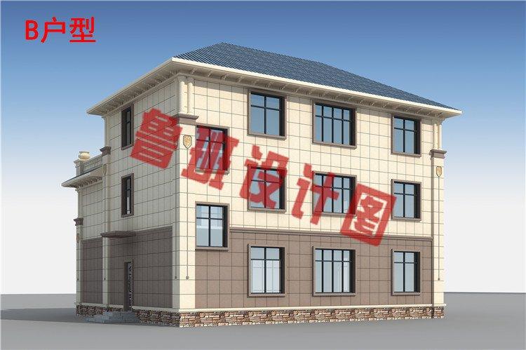 农村三层私人别墅设计图片
