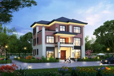 现代新中式三层楼农村别墅设计图,小户型设计