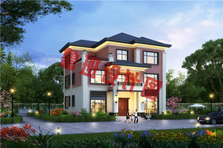三层新中式农村别墅设计效果图