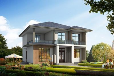 现代风格二层住宅农村小别墅设计图,超大客厅设计方案