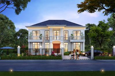 农村新款二层别墅图片及全套设计图,外观简约时尚