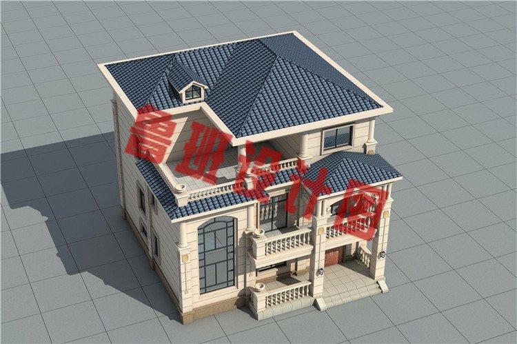 农村新款欧式三层简约小别墅设计图片
