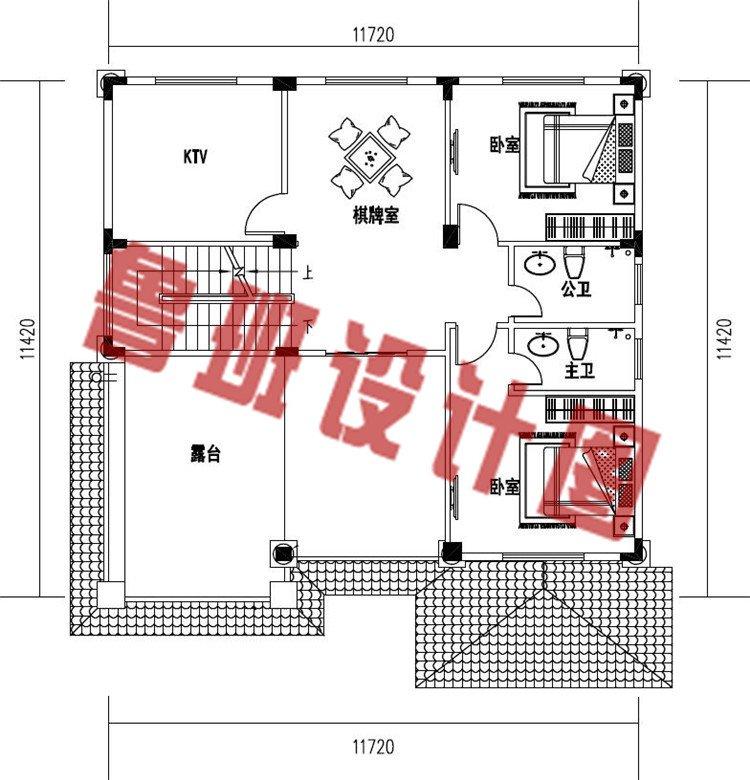 农村新款欧式三层简约小别墅设计三层户型图