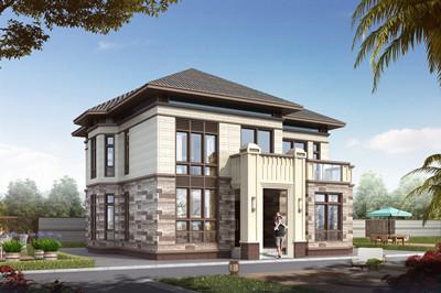 150平方米左右二层农村建房设计图,外立面古朴有质感