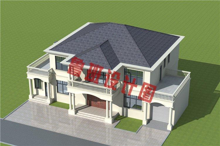 农村最新大开间二层别墅设计图片