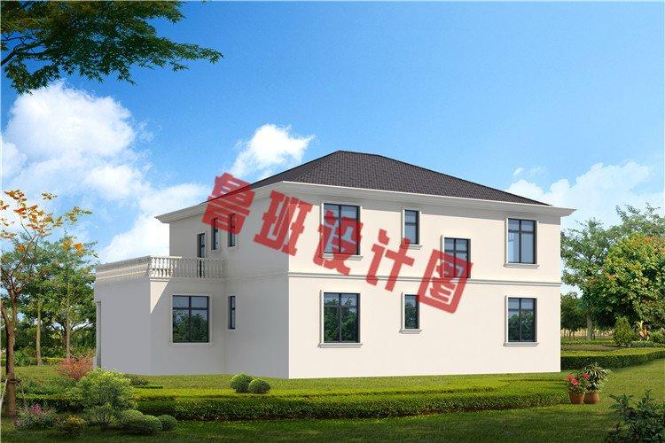 农村最新大开间二层别墅设计外观图