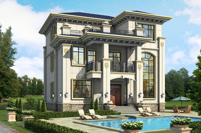 农村三层豪华自建楼房设计图,外观效果图片大气