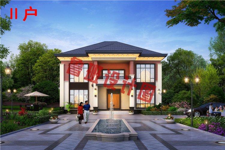 现代风格二层小楼房设计效果图