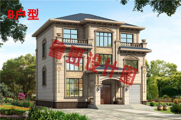 乡村新款三层欧式复式别墅设计效果图